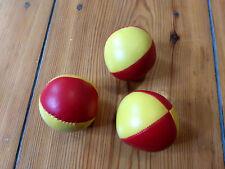 3 Stück  Henrys Jonglierball Bean Bag Superior medium glatt 67 mm 3x Rot-Gelb