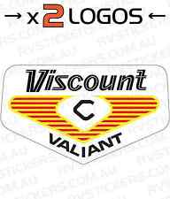 2x VISCOUNT 1970s VALIANT LOGO vintage retro Caravan decal