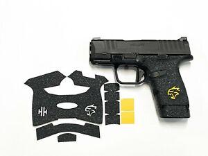 HANDLEITGRIPS Textured Rubber GUN GRIP for Springfield Hellcat w/ yellow insert