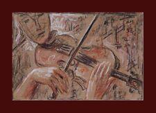 """Wandbild """"Im Louvre Paris Thea Schleusner 1879-1964-  Das Geigenlied xx 1942 xxx"""