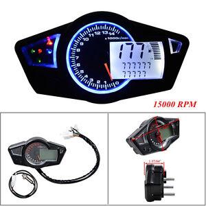 Universal Multi-Function DC 12V Motorcycle Odometer Speedometer Tachometer Gauge