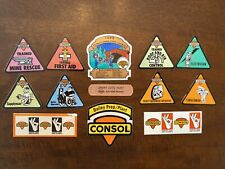 Coal Mine Stickers Vintage Consol 13pc