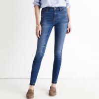 Madewell Womens Jeans High Riser Skinny Size 25 Medium Wash