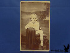 Pyles & Harper CDV Portrait Mt. Ayr IA Girl Child High Tops Long Blonde Hair