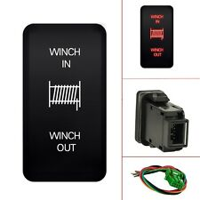 MICTUNING 12v Momentary Switch on-off-on Red Winch In & Out for Toyata 40mm*20mm