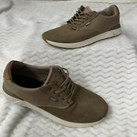 Reef Ridge Mens Brown Canvas Suede Lace Up Sneaker Shoes, Sz 11.5