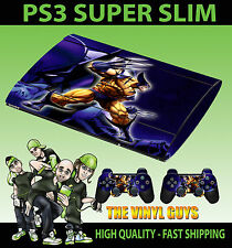 Playstation Ps3 Super Slim Wolverine Logan X Men Mutante Skin Sticker & Pad Skins