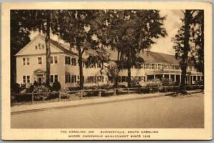 Summerville, South Carolina Postcard THE CAROLINA INN Street View Roadside 1947