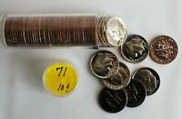 1971 S Roosevelt Dimes Clad Proof Roll of Coins 10c US Coins Roll of 50 Coins