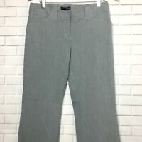 Express Design Studio Women's Slacks Size 6 Gray Black Editor Fit Pants Career