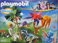 Playmobil Super 4 6687 Lost Islandia con Alien y Raptor agente dallas nuevo