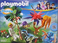 Playmobil Super 4 6687 Lost Island mit Alien und Raptor Agentin Dallas NEU