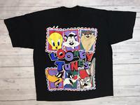 Vintage 1994 Looney Tunes T Shirt 90s Bugs Bunny Daffy Duck Warner Bros AA206