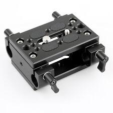 NICEYRIG Shoulder Support Camera Baseplate with 15mm Rod Clamp Railblock for Rod