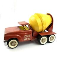 "Vintage 1950s ""STRUCTO"" Ready Mix Cement Mixer Truck Red Yellow"