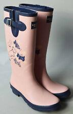Ladies Radley London Pink Blue Cherry Blossom Dog wellington Boots Wellies UK 7