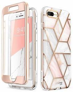For iPhone 8 Plus / 7 Plus Case i-Blason Cosmo Stylish Bumper Skin Cover +Screen
