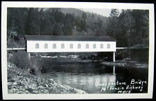 VIDA OREGON ~ 1940's McKENZIE HIGHWAY ~ GOOD PASTURE BRIDGE ~ Covered~ RPPC