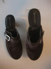 Rockport AdiPrene By Adidas Women's Brown Suede Buckle Slip On Mule Shoes Sz 6.5