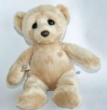 """Aurora 11"""" Bear Cub Big Eyes Plush Stuffed Animal Lovey Doll Toy Blonde"""
