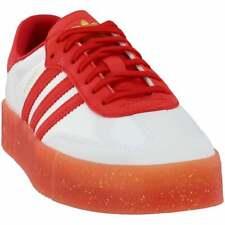 Adidas Fiorucci sambarose Tenis Casuales-Rojo-Para Mujer