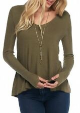 FREE PEOPLE | Olive 'Malibu' Thermal Top Swing Waffle Knit Olive Small S $68