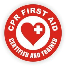 Cpr First Aid Certified Trained Hard Hat Decal | Label | Emt Aed Helmet Sticker