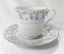 F. T. D. A. Tasse et soucoupe café thé vintage 1987 floral porcelaine