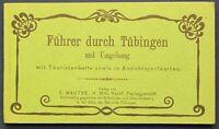 Leporello Führer durch Tübingen um 1910 Geografie Ortskunde Architektur sf