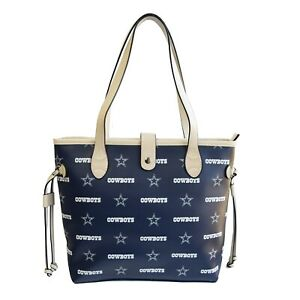 Dallas Cowboys Woman's Patterned Tote Hand Bag NFL Authentic by Littlearth New