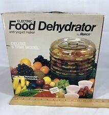 NEW Ronco Deluxe Electric Food Dehydrator 5 Trays Tray JERKY Fruit Veggie (#573)
