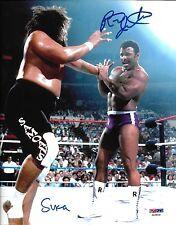 Rocky Johnson & Sika The Wild Samoans Signed WWE 8x10 Photo PSA/DNA COA Picture
