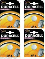 4x Duracell CR1220 Lithium Coin Cell Battery 3v Blister Packed DL 1220