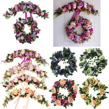 Artificial Peony Flower Mirror Wall Door Wreath Garland Hanging Wedding Decor