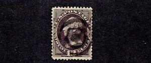 1873 U.S. CLASSIC 12c Blk Violet Henry Clay w Secret Mark Sc#162 Used FANCY