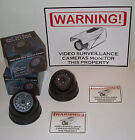 FAKE MINI DOME DUMMY CAM SPY SECURITY SURVEILLANCE CAMERAS WARNING SIGN DECALS