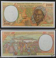 ECCAS Equatorial Guinea Banknote (N) 2000 Francs UNC