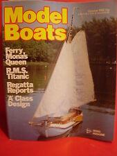MODEL BOATS OCTOBER 1982 TITANIC BUZZARD MONA QUEEN USS N CAROLINA MAGNUM