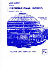 John L Gardner & Charlie Magri boxing programme Albert Hall 20th February 1979
