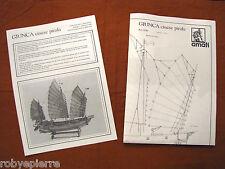 2 Ricambi Giunca Pirata Cinese Amati 1421 nave da montare poster istruzioni 1021