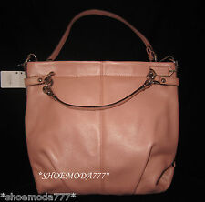 $358 COACH Leather BROOKE Hobo Bag Purse Handbag Coral Pink Authentic New 17165