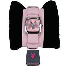 Genuine Playboy Pink Cuff Strap Ladies Watch PB0128PK