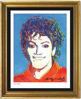 "Andy Warhol Signed/Hand-Numbered Ltd Ed ""Michael Jackson"" Litho Print (unframed)"