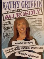 "KATHY GRIFFIN Signed Inscribed ""Allegedly"" DVD Cover & Disc VG free shipping"