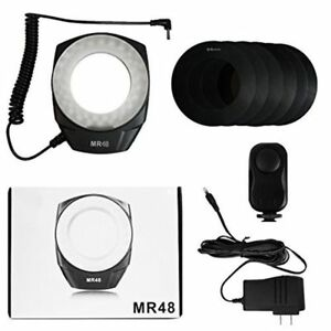 New LED Macro Ring Light For Canon Nikon Pentax Olympus DSLR Camera Cold Shoe