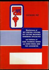 Super Rare Vintage 1975 HPC Lock Key Cutter Picks & Tools Catalog #702