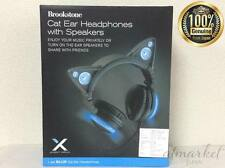 AXENT WEAR Cat Ear Headphones With Blue LED High-performance NEW! Free Shipping