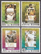KOREA Pn. 1980 MNH** SC#1917/20 set, Explorers.