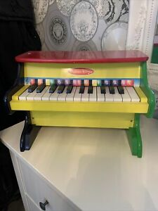 Melissa & Doug Kid Child Wooden Piano in multi colours