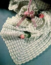 "Baby's Crochet Shawl Pattern in 3ply 48x48"" 857"